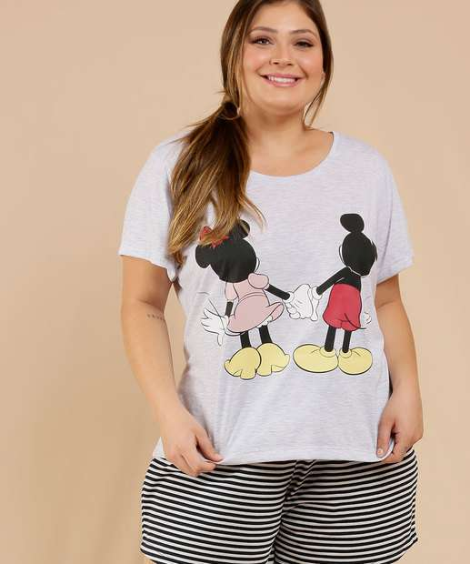 Image_Pijama Plus Size Feminino Mickey Minnie Disney