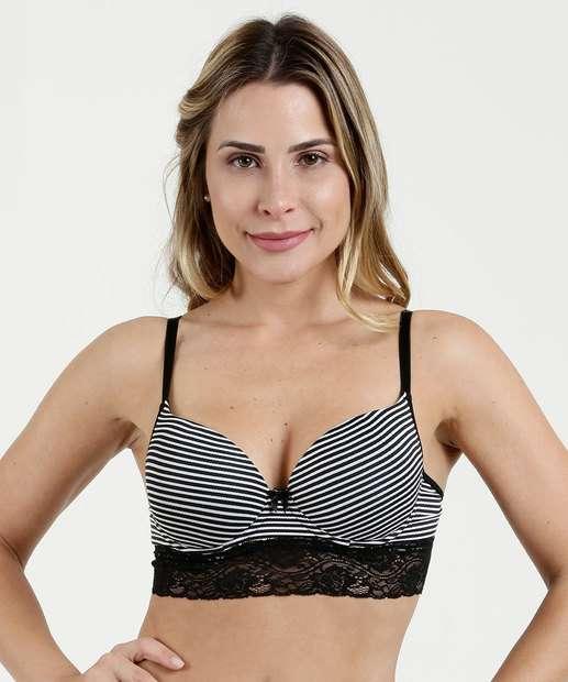 Image_Sutiã Feminino Top Corpete Listrado Renda Marisa