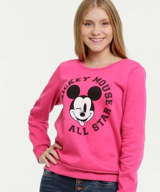Image_Blusão Juvenil Moletom Estampa Mickey Disney
