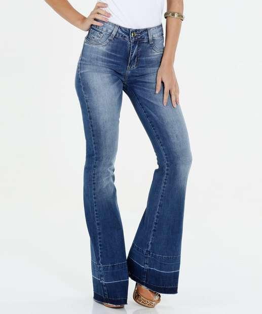 Image_Calça Feminina Jeans Flare Sawary