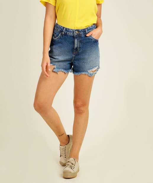 Image_Short Jeans Destroyed Feminino Barra Desfiada Marisa