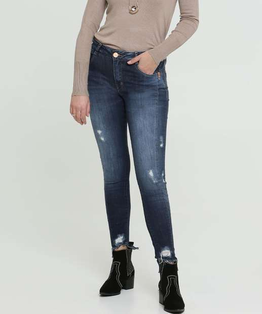 Image_Calça Feminina Cigarrete Destroyed Zune Jeans