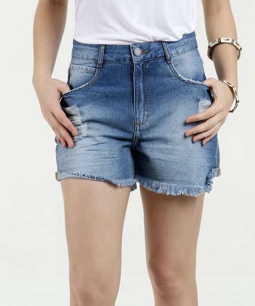 Image_Short Feminino Jeans Hot Pants Marisa