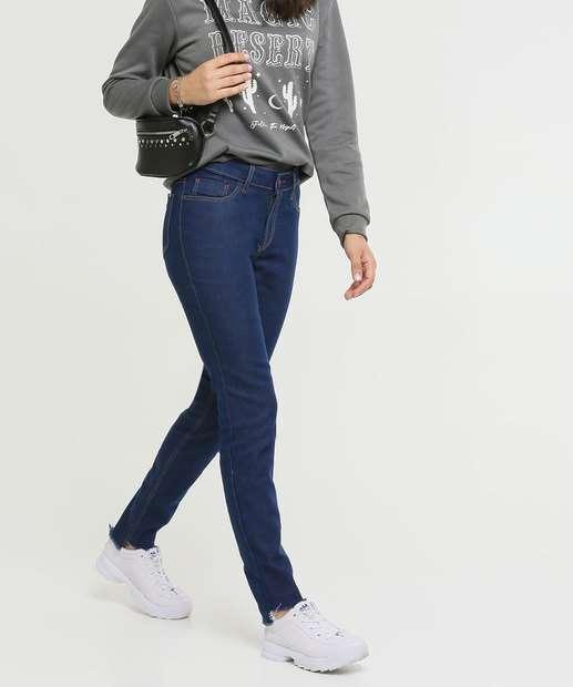 Image_Calça Skinny Feminina Barra Desfiada Five Jeans