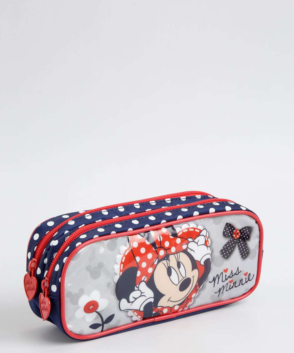 Estojo Escolar Infantil Estampa Minnie Disney