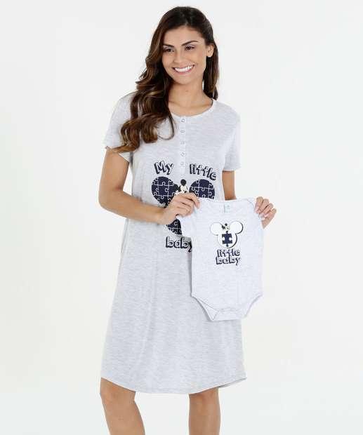 Image_Kit Feminino Maternidade Mãe e Filho Mickey Disney