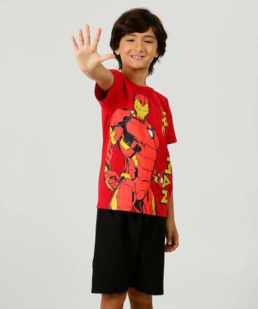 Image_Conjunto Infantil Manga Curta Homem de Ferro Marvel Tam 4 a 10