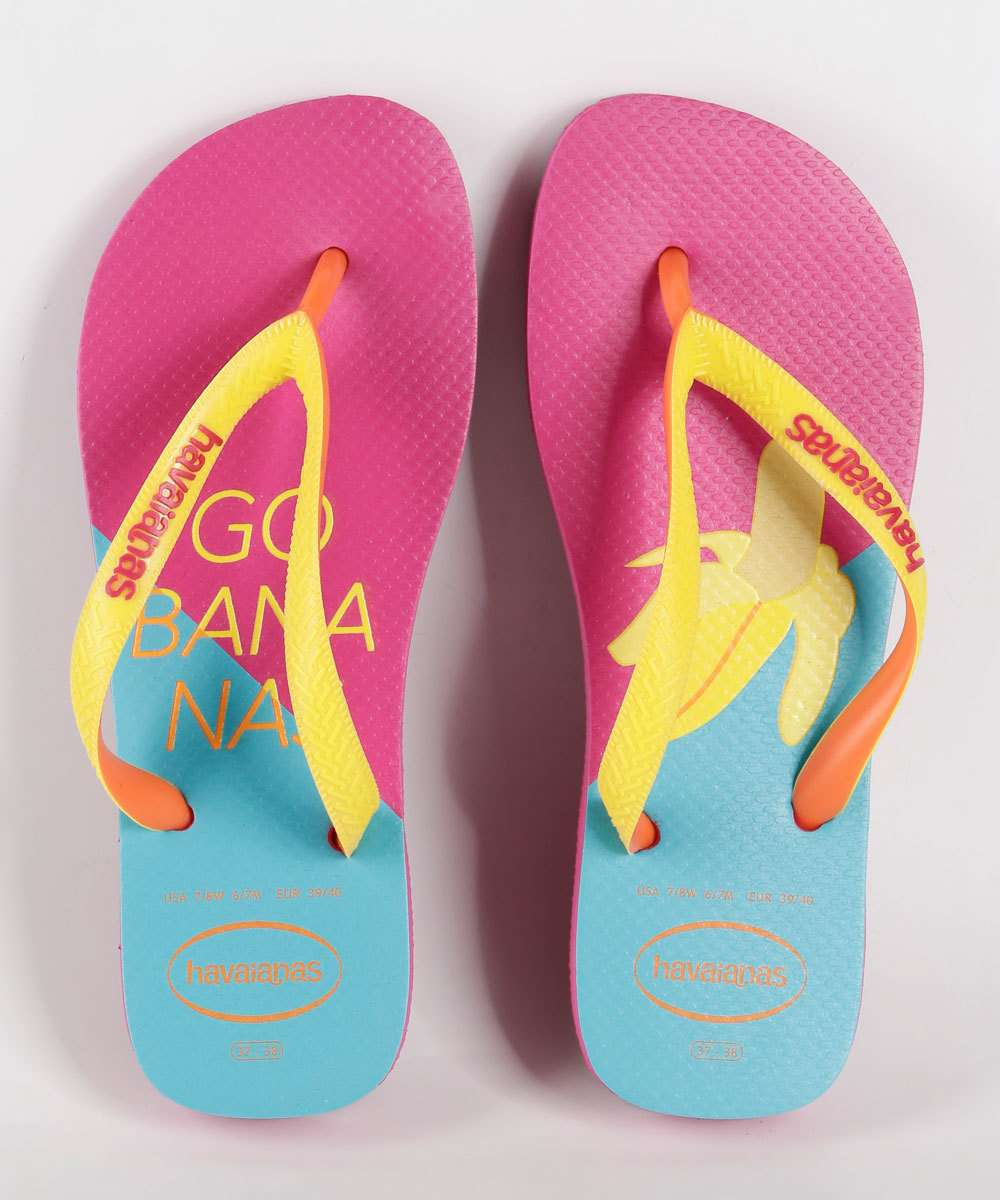 Chinelo Feminino Estampa Banana Top Cool Havaianas