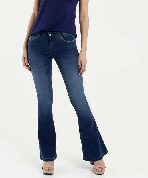 Image_Calça Feminina Jeans Flare Brilho Uber Jeans