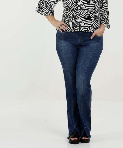Image_Calça Feminina Jeans Flare Plus Size Razon