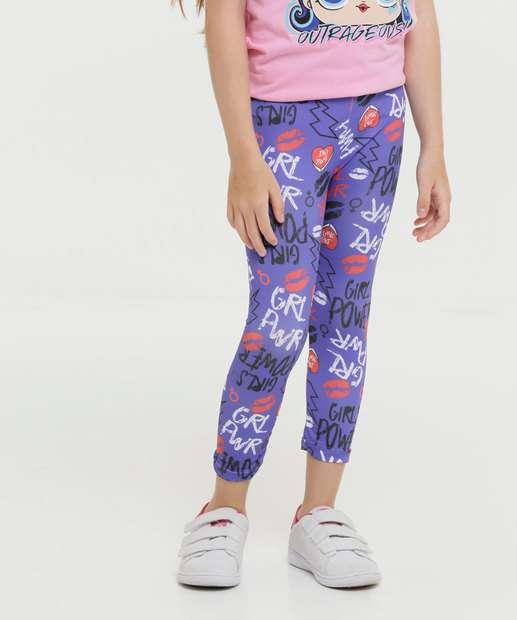 Image_Calça Infantil Legging Estampada Rhejon Tam 4 a 8