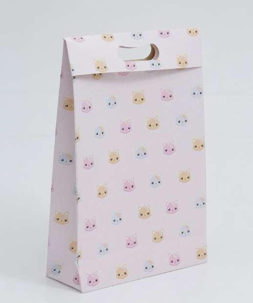 Image_Embalagem Presente Sacola Estampa Gatos Marisa