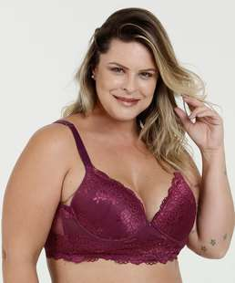 3d93874e5 Sutiã Feminino Com Base Renda Plus Size Marisa