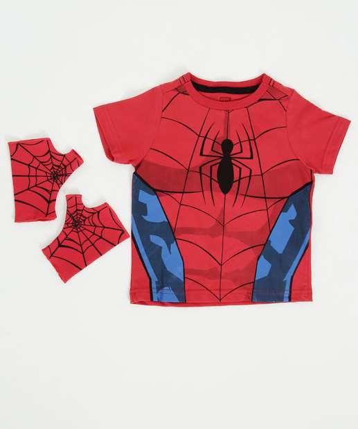 Image_Camiseta Infantil Homem Aranha Brinde Luva Marvel
