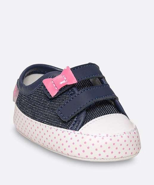 Image_Tênis Infantil Bebê Jeans Laço Pimpolho