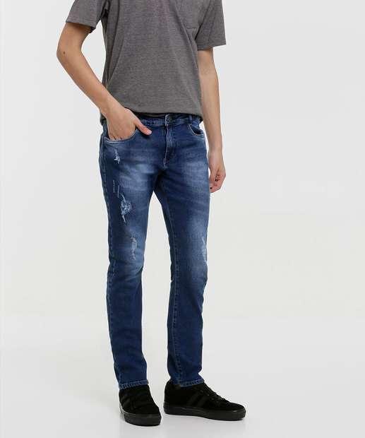 Image_Calça Juvenil Jeans Puídos Tam 10 a 16