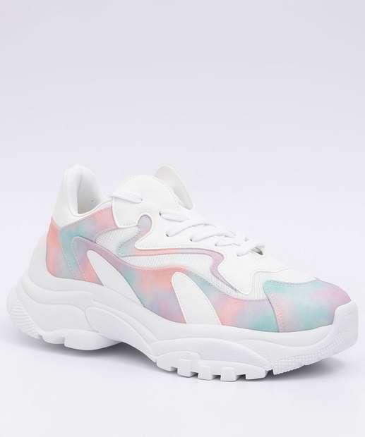 Image_Tênis Feminino Chunky Sneaker Tie Dye Marisa