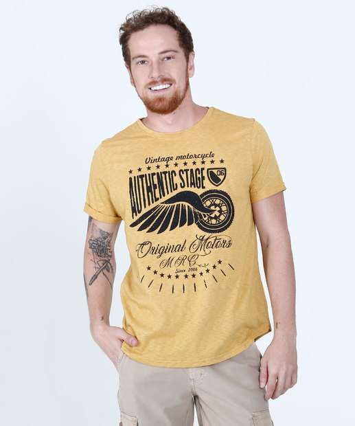 Image_Camiseta Masculina Estampa Asa Manga Curta Tribo