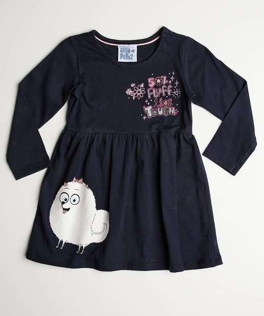 Image_Vestido Infantil Estampa Frontal Gidget Manga Curta Universal