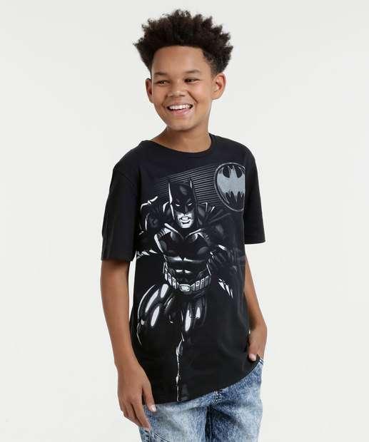 Image_Camiseta Juvenil Batman Manga Curta Liga da Justiça