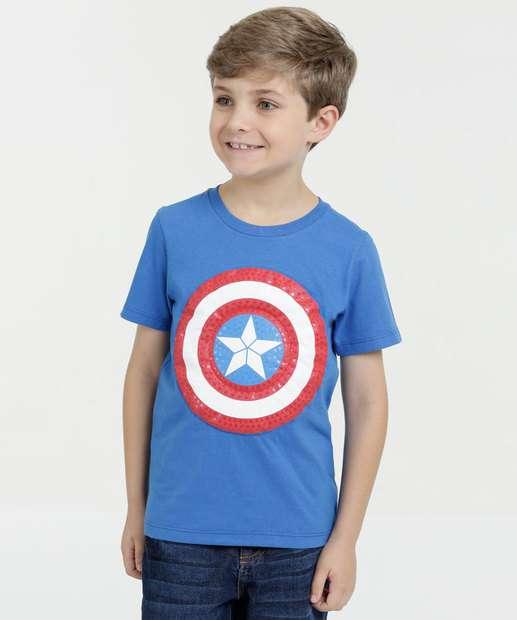 Image_Camiseta Infantil Capitão América Manga Curta Marvel