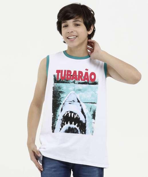 Image_Regata Juvenil Estampa Tubarão Universal