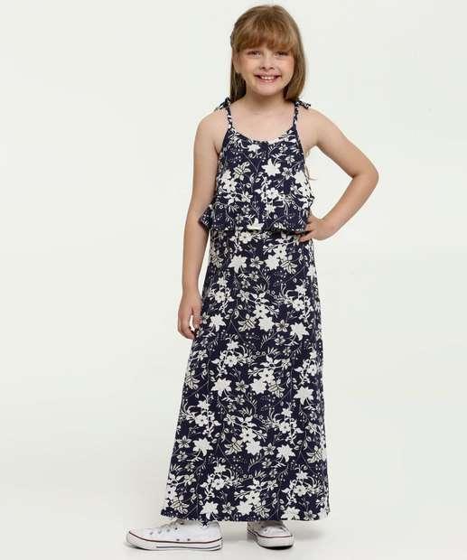 Image_Vestido Infantil Longo Estampa Floral Brandili