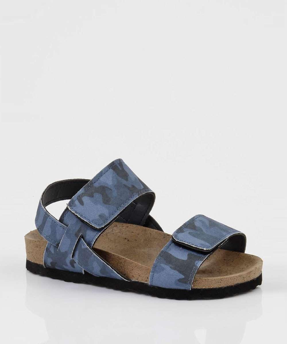 Sandália Infantil Velcro Camuflada MR