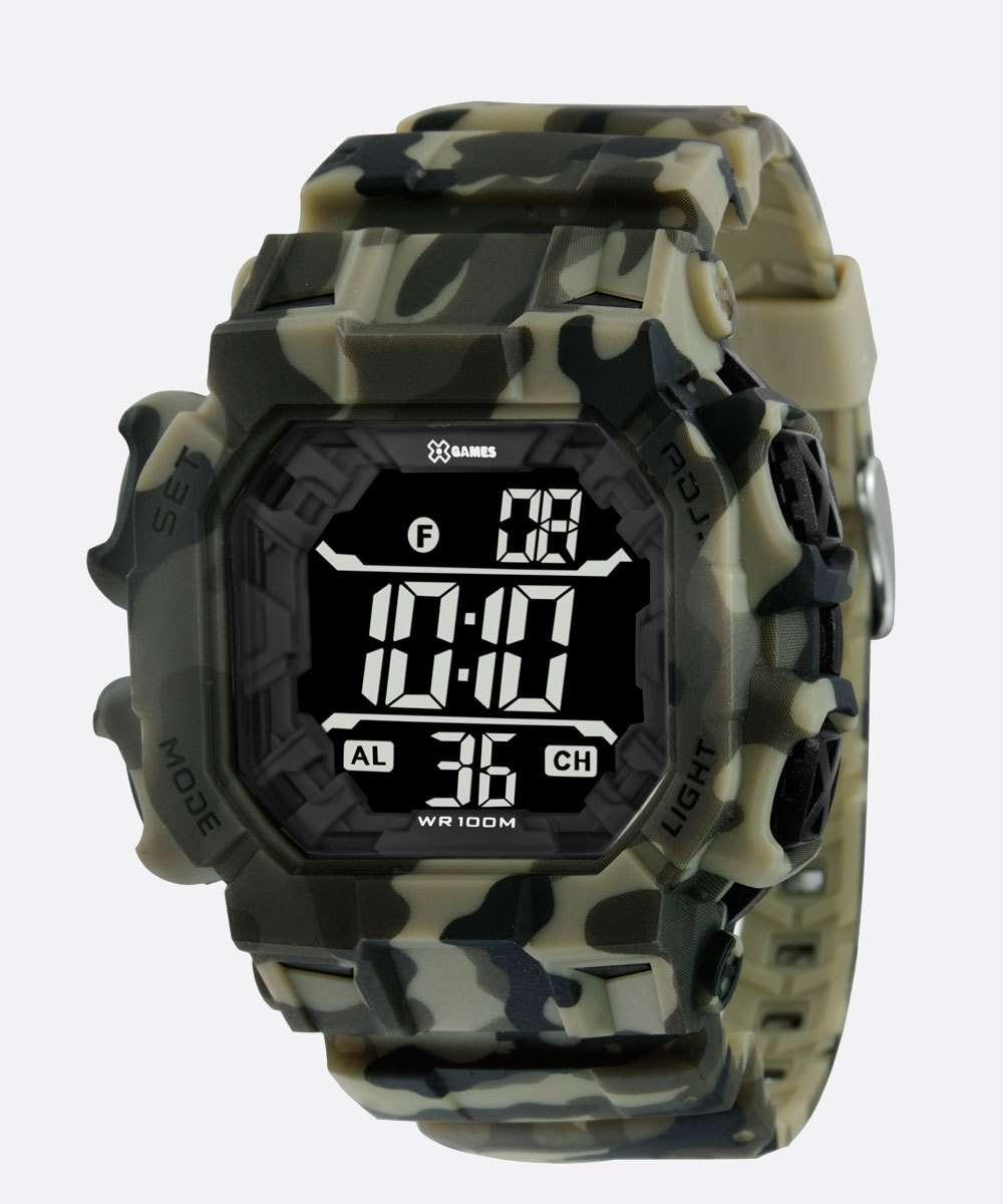 Relógio Masculino Digital Camuflado XGames XGPPD142 PXEP