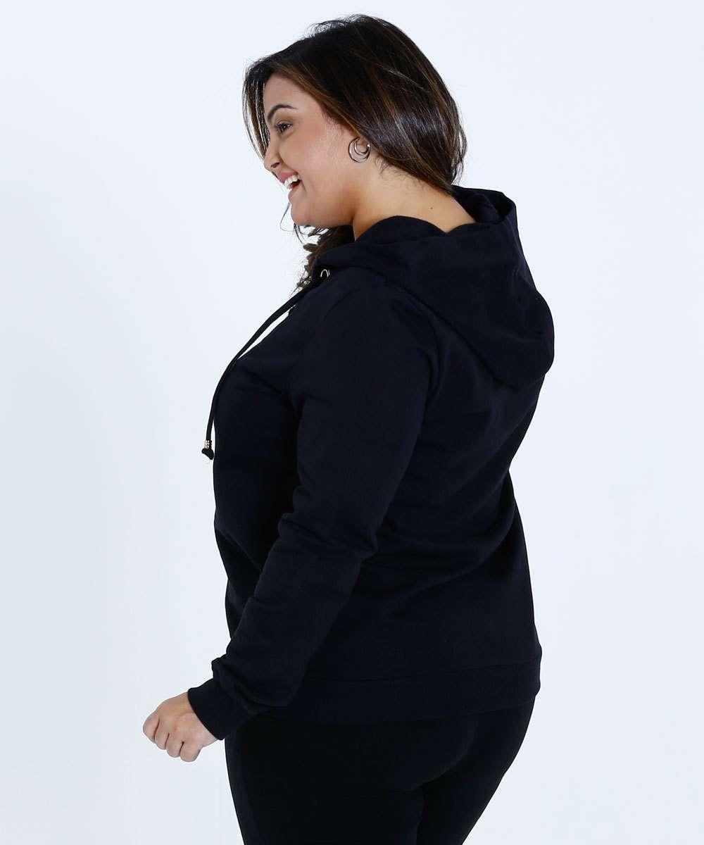 4839fd02c5 Blusa Feminino Moletom Capuz Plus Size Marisa
