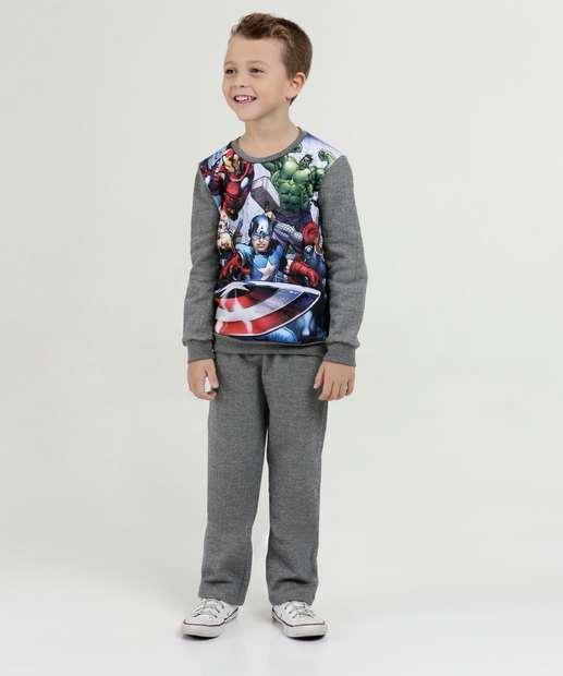 Image_Conjunto Infantil Moletom Estampa Vingadores Marvel