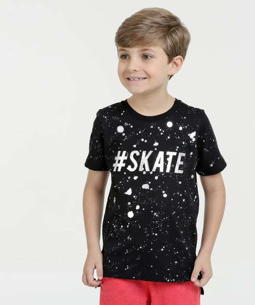 Image_Camiseta Infantil Estampa Skate Foil Manga Curta Marisa