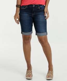 Bermuda Feminina Jeans Tachas Marisa