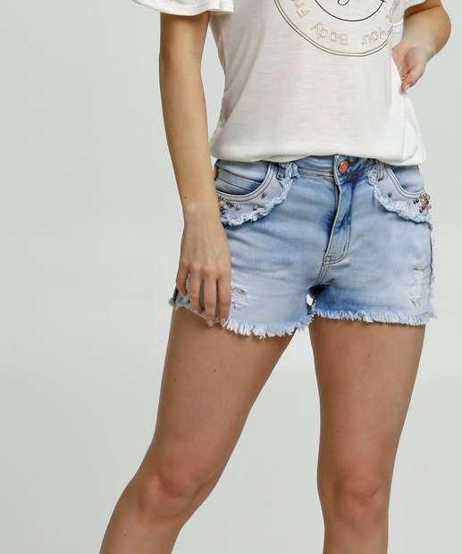 Image_Short Feminino Pedraria Zune Jeans By Sabrina Sato