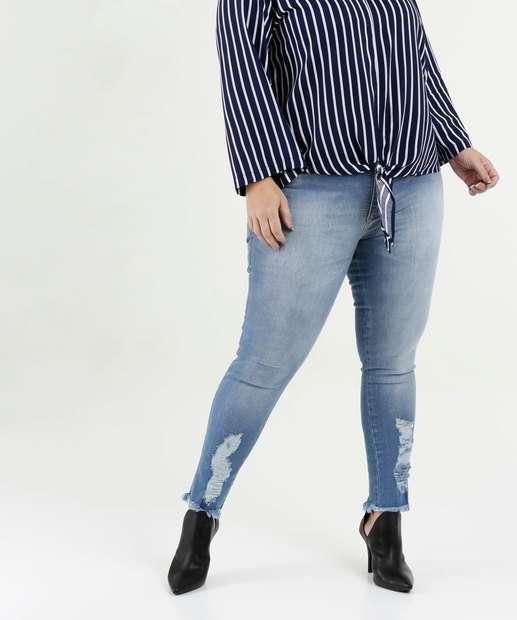 Image_Calça Feminina Jeans Destroyed Cigarrete Plus Size Biotipo