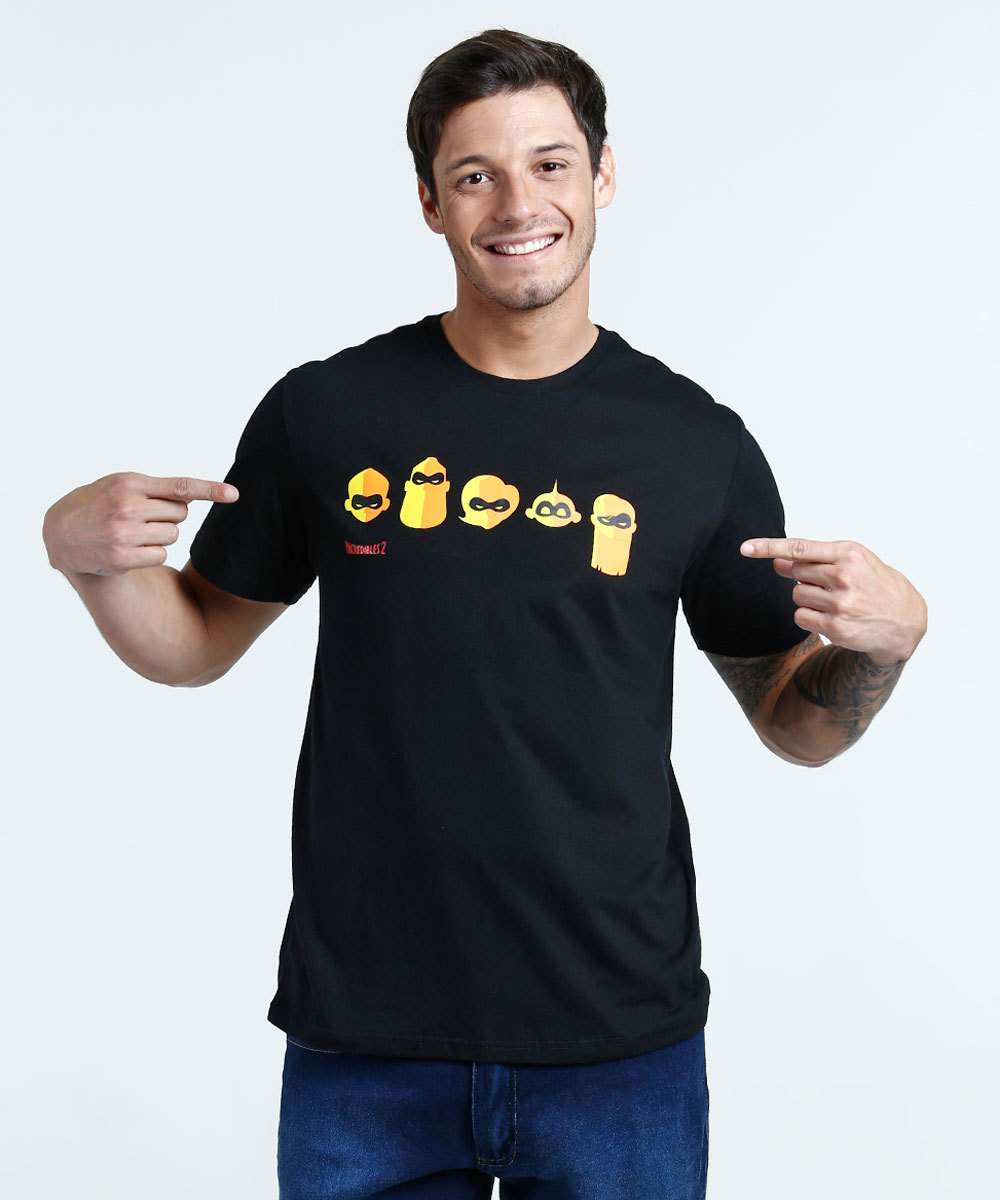 Camiseta Masculina Estampa Os Incríveis Disney  b8e8ced2be07f