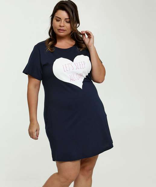 Image_Camisola Feminina Estampa Frontal Plus Size