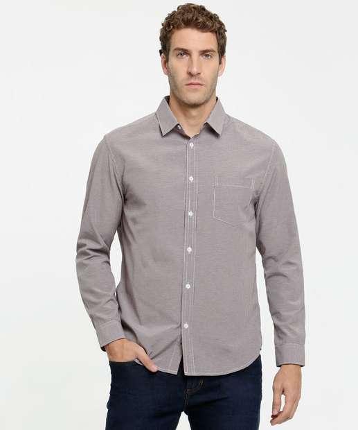 Image_Camisa Masculina Estampa Xadrez Manga Longa MR