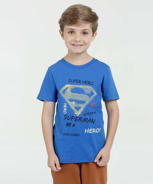 Image_Camiseta Infantil Super Homem Manga Curta Liga da Justiça