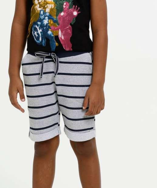 Image_Bermuda Infantil Moletinho Listrado MR