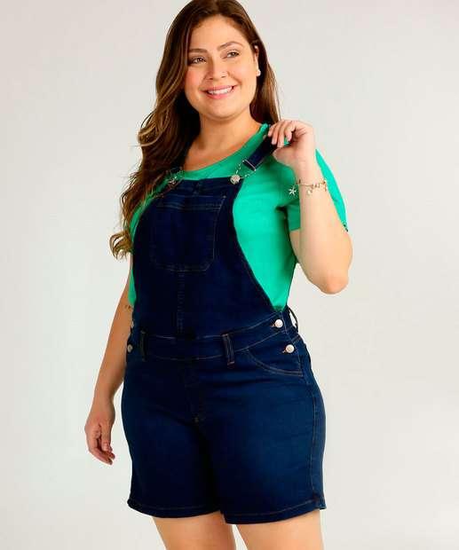 Image_Jardineira Plus Size Feminina Jeans