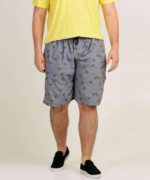 Image_Bermuda Masculina Estampa Tropical Plus Size