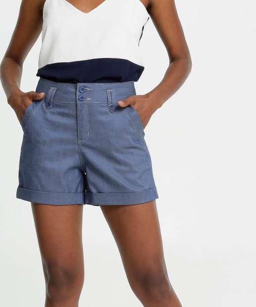 Image_Short Feminino Jeans Barra Dobrada Gups
