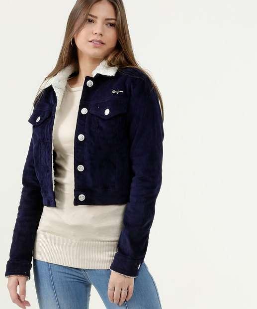 Image_Jaqueta Feminina Cropped Veludo Canelado Uber Jeans