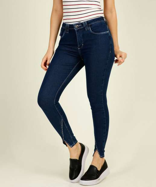 Image_Calça Cigarrete Feminina Strass Zune Jeans