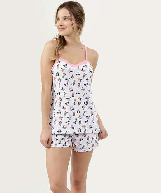 Image_Pijama Feminino Estampado Alças Finas Disney