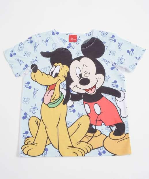Image_Camiseta Infantil Mickey Pluto Manga Curta Disney
