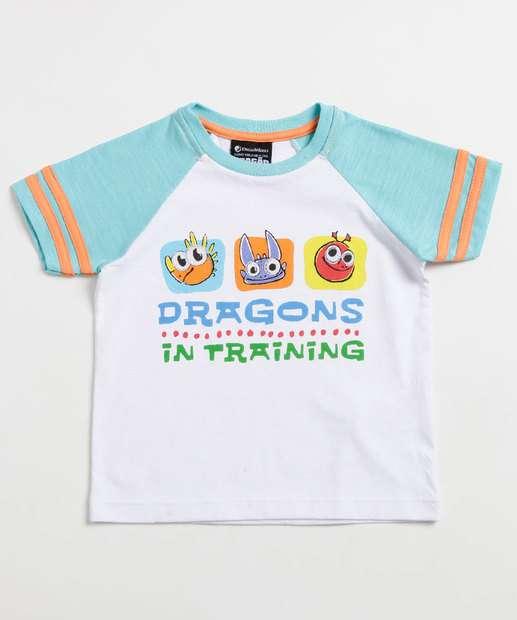 Image_Camiseta Infantil Estampa Dragão Manga Curta Universal