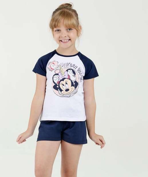 ddf356d46d15da Pijama Infantil Estampa Minnie Manga Curta Disney