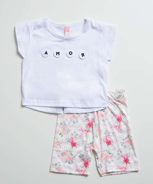 Image_Conjunto Infantil Estampa Floral Manga Curta